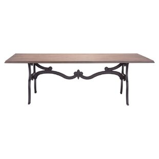 Eastwood Natural Distressed Rustic Dining Table by Gracie Oaks