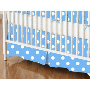 Inexpensive Primary Polka Dots Woven Crib Skirt BySheetworld
