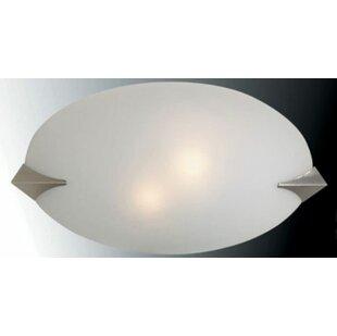 Berkman 2-Light Flush Mount by Latitude Run