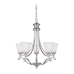 Charlton Home Osbourn 5-Light Shaded Chandelier