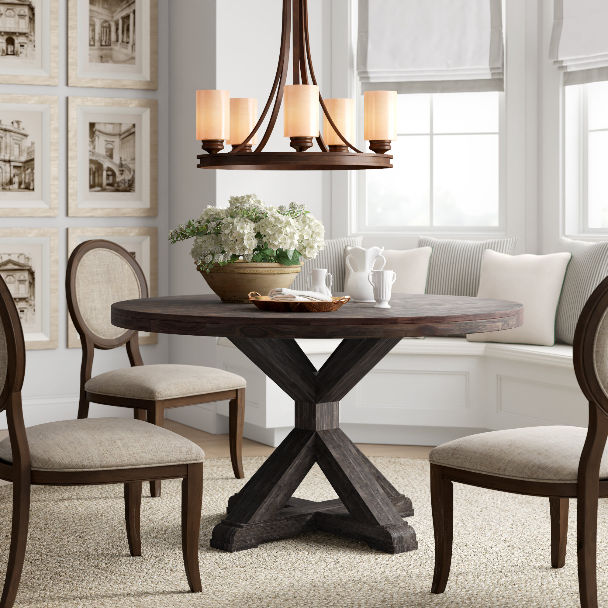 Picture of: Huntingdon Solid Wood Dining Table Reviews Birch Lane