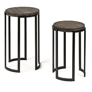 Affordable Price Brunette 2 Piece Nesting Tables (Set of 2) by Williston Forge