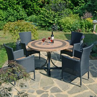 Sydni 4 Seater Dining Set With Cushion By Sol 72 Outdoor