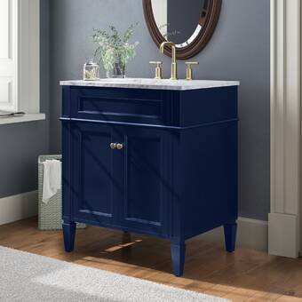 Allmodern Perego 30 Single Bathroom Vanity Set With Mirror Reviews Wayfair