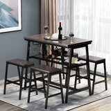 Reynold 5 - Piece Counter Height Dining Set by 17 Stories