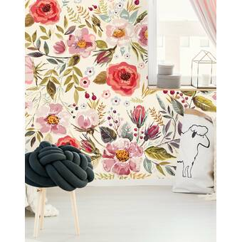 Bungalow Rose Mercy Removable Peel And Stick Wallpaper Panel Wayfair