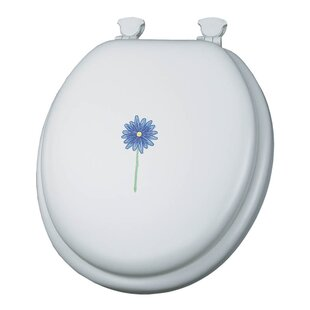 Mayfair Embroidered Daisy In Bloom Lift-Off Toilet Seat