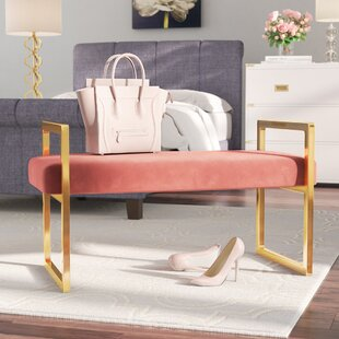Everly Quinn Elmwood Upholstered Bench