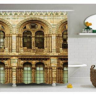 Historic European City Building Single Shower Curtain