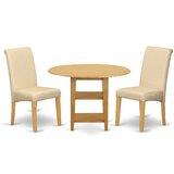 Jaelyn Small Table 3 Piece Drop Leaf Breakfast Nook Dining Set by Winston Porter