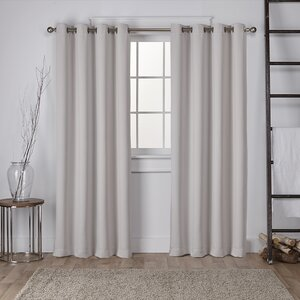 Tamara Solid Blackout Thermal Grommet Curtain Panels (Set of 2)