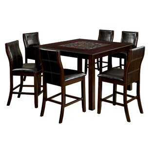 Delicia Mosaic Counter Height Dining Table Latitude Run