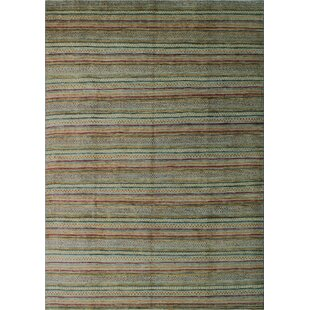 Kwak Hand-Knotted Wool Gold Area Rug ByBloomsbury Market