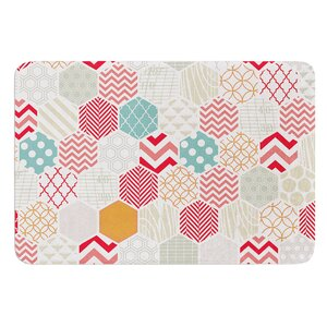 Geo Pastel by Heidi Jennings Bath Mat