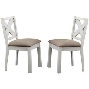 Rademacher Solid Wood Dining Chair Set of 2 by Breakwater Bay