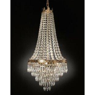 House of Hampton Kincheloe Swarovski Crystal 4-Light Empire Chandelier