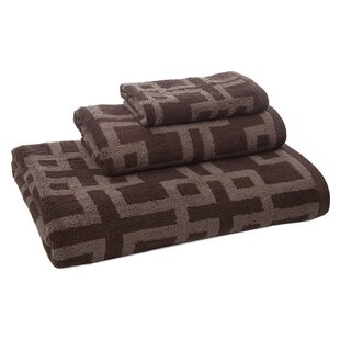 Brook 3 Piece 100% Cotton Towel Set