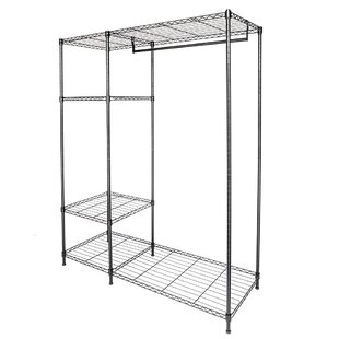 Find for Elida 47.2 W 3 Tier Hanger Garment Rack with Clothes Rail By Rebrilliant