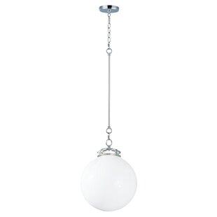 Caulkins 1-Light Globe Pendant by Latitude Run