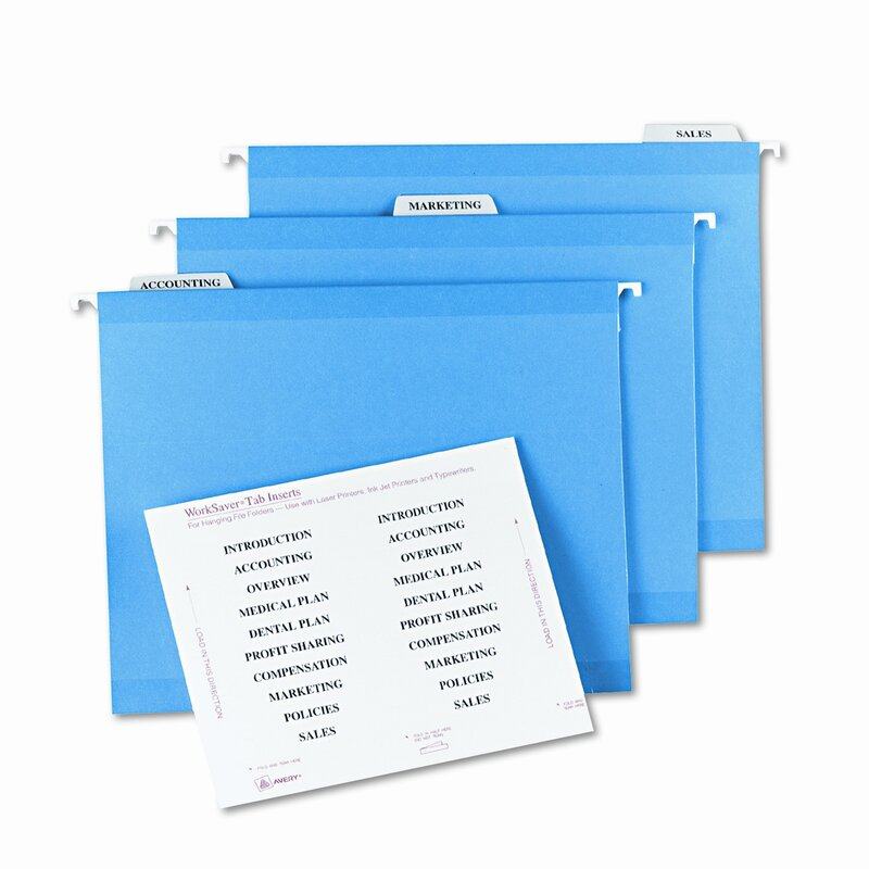 It is a photo of Printable Hanging File Folder Tab Inserts intended for customizable divider