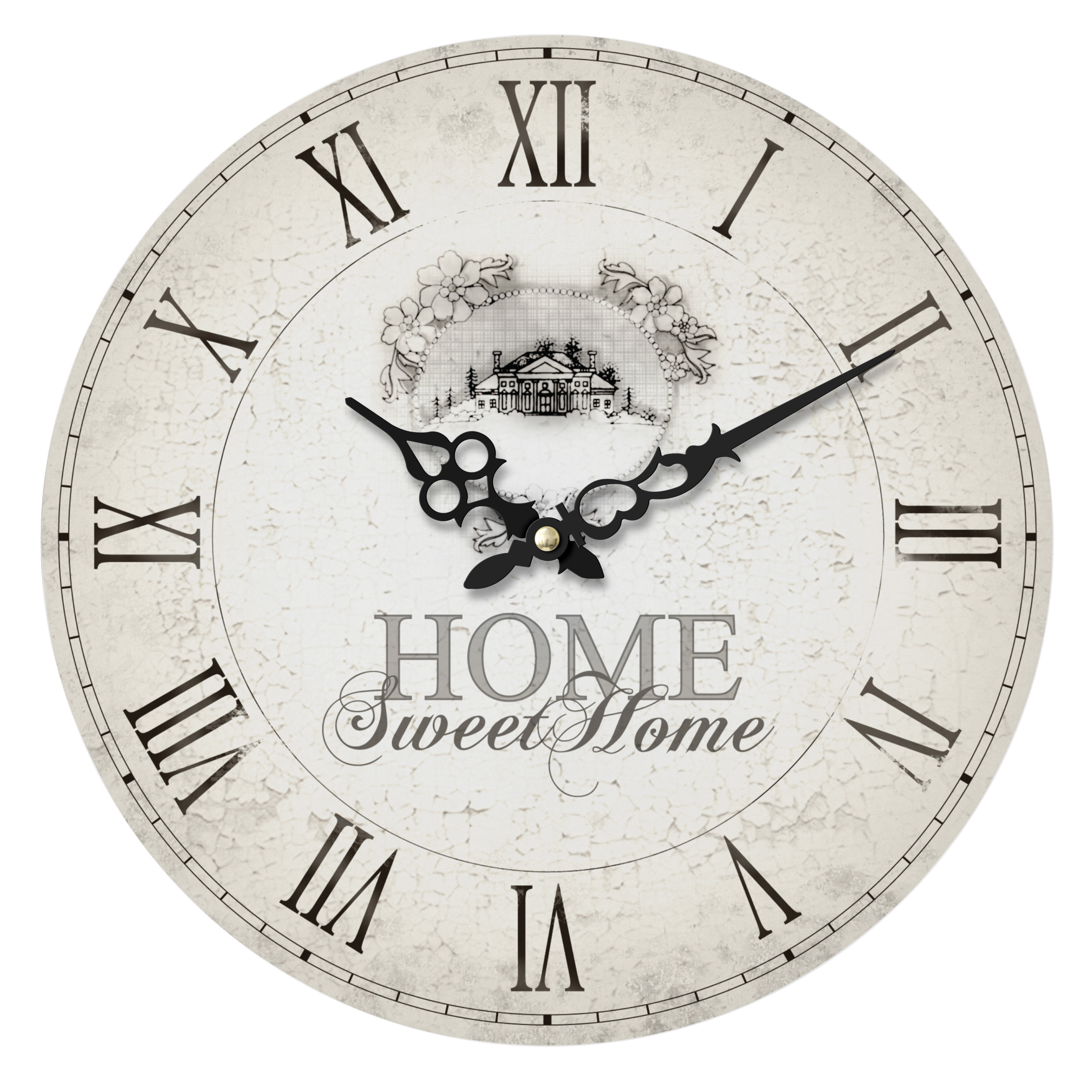 Antiques Antique Clocks Nostalgia Clock Vintage Clock Home Sweet Home English Clock Black Wall Clock
