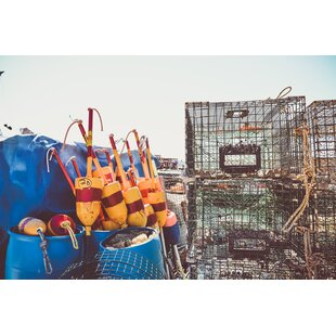 Gallery Lobster Traps Ii Framed Photographic Print On Wred Canvas