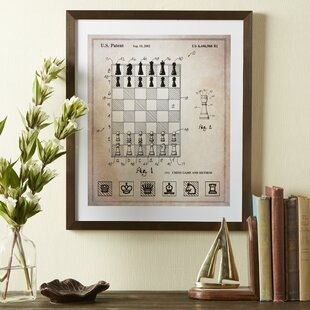'Chess Board' Framed Blueprint by Charlton Home