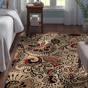 Best Brent Ivory/Black Area Rug By Andover Mills