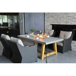 Wellington Concrete Natural Gas Dining Fire Pit Table