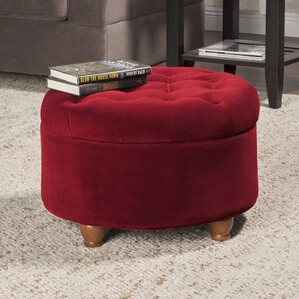 Santino Round Tufted Storage Ottoman by Viv + Rae