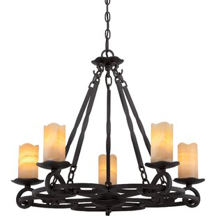 Fleur De Lis Living Clarkson 5-Light Shaded Chandelier