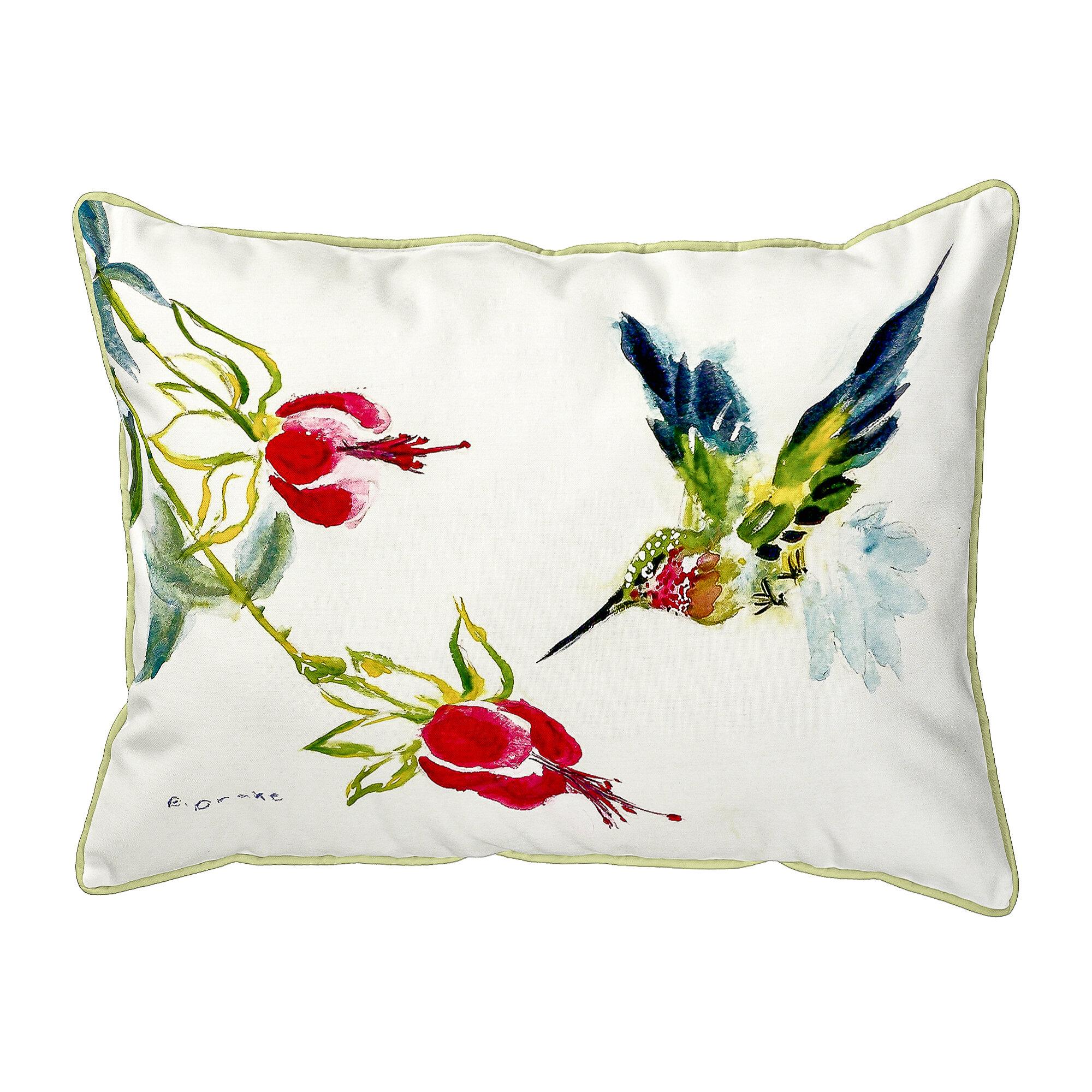 Winston Porter Sinegal Hummingbird Indoor Outdoor Lumbar Pillow Reviews Wayfair