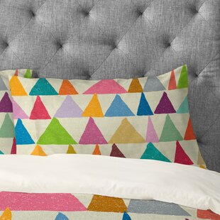 Nick Nelson Analogous Shapes In Bloom Pillowcase