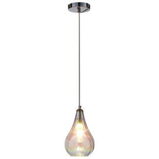 Hirsch 1-Light Teardrop Pendant by Wrought Studio