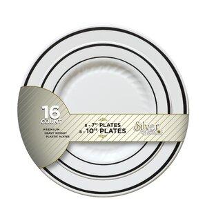 Silver Splendor Plate (Pack of 256)