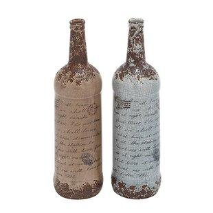 Brown Ceramic Vase Set (Set of 2)