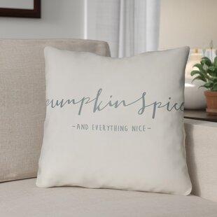 Pumpkin Spice Indoor/Outdoor Throw Pillow