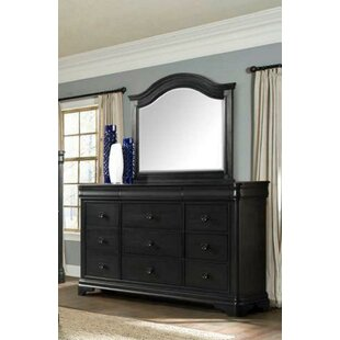 Camborne 9 Drawer Double Dresser with Mirror