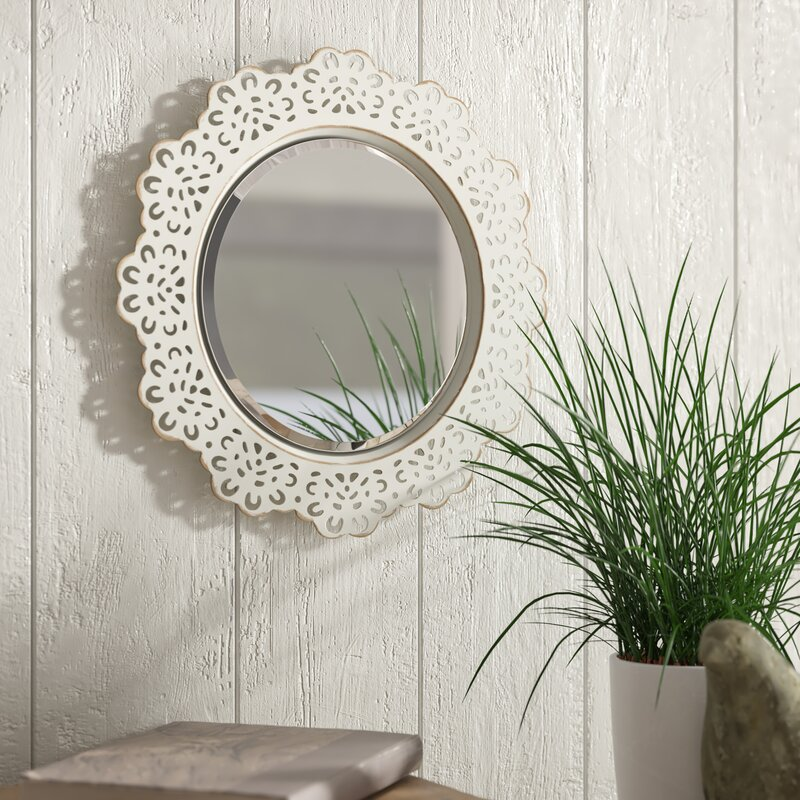 Ophelia Co Pettine Metal Lace Accent Wall Mirror Reviews Wayfair