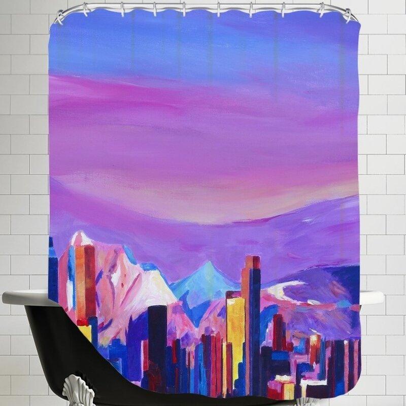 Brayden Studio Markus Bleichner Eckhoff Denver Colorado Sunset Mood With Mountains Shower Curtain Wayfair