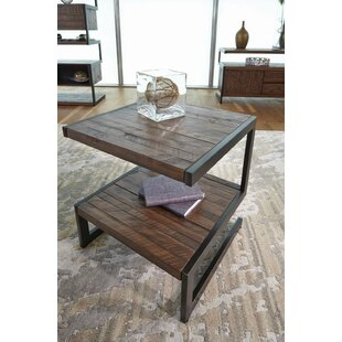 Audio Rectangular End Table by 17 Stories