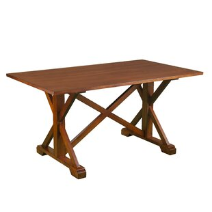 Ahlers Farmhouse Dining Table Millwood Pines