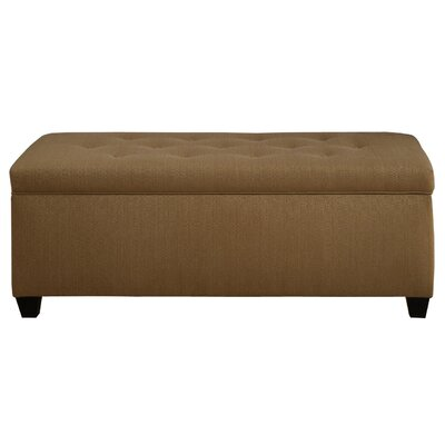 Winston Porter Paisleigh Upholstered Shoe Storage Bench Size: Large, Finish: Candice Fawn