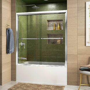Find a Duet 59 x 58 Bypass Semi-Frameless Tub Door with Clearmax™ Technology ByDreamLine