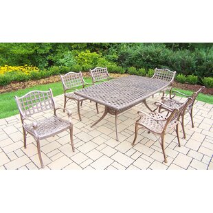 Thelma 7 Piece Aluminum Dining Set