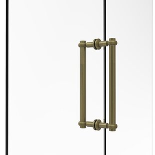 Contemporary 12 Back to Back Shower Door Pull with Twisted Accent by Allied Brass
