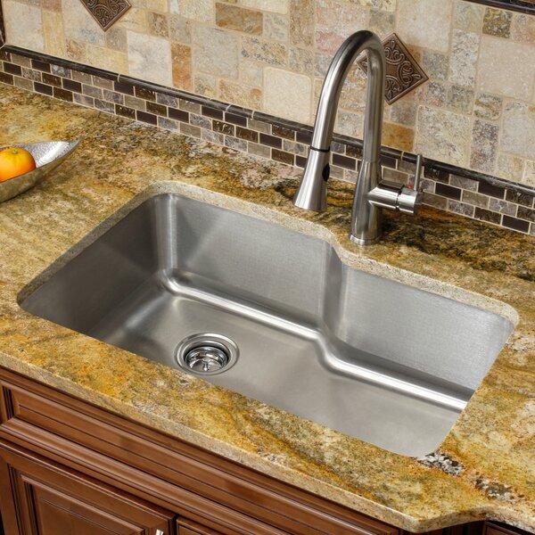 Lesscare Stainless Steel 32 L X 20 75 W Single Basin Undermount Kitchen Sink Reviews Wayfair