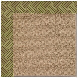 Lisle Machine Tufted Mossy Green and Beige Indoor/Outdoor Area Rug