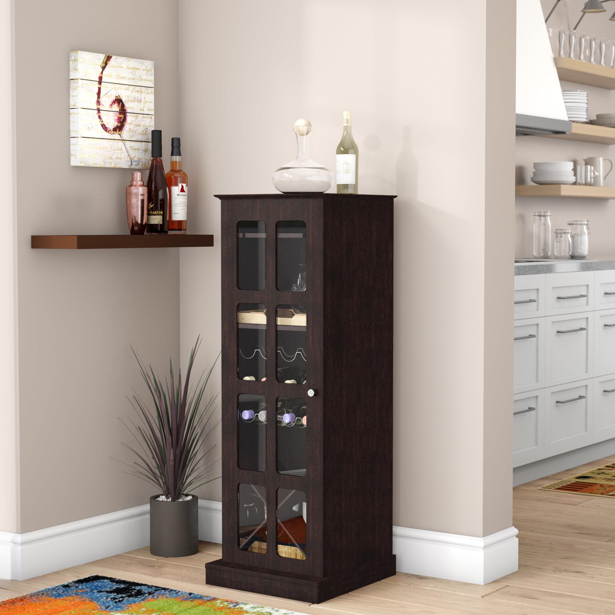 Winston Porter Carmean Mini Bar With Wine Storage Reviews