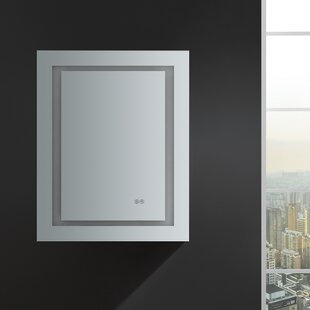 Low priced Spazio 24 x 30 Recessed or Surface Mount Frameless Medicine Cabinet with LED Lighting and Defogger By Fresca